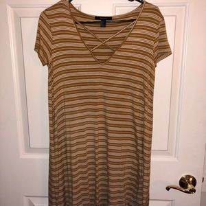 Forever 21 Dresses - Yellow/white striped flowy dress